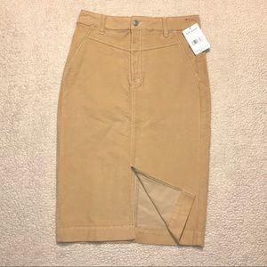 FREE PEOPLE Praline Corduroy Skirt